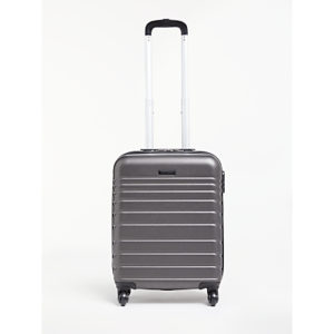 John Lewis & Partners Athens 55cm 4-Wheel Cabin Case, Black