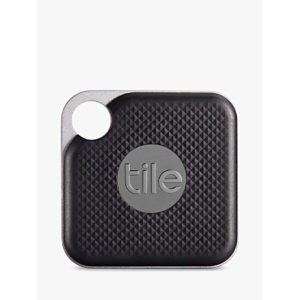 Tile Style Pro Series (2018), Bluetooth Phone, Keys, Item Finder, 1 Pack, Black
