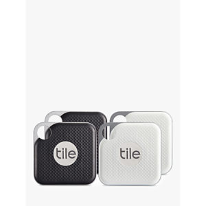 Tile Style Pro Series (2018), Bluetooth Phone, Keys, Item Finder, 4 Pack, Black and White