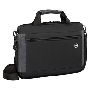 Wenger Incline 16 Laptop Slim Briefcase with Tablet Pocket, Black
