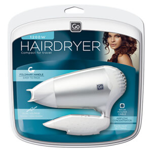 Go Travel Compact 1200W Hairdryer